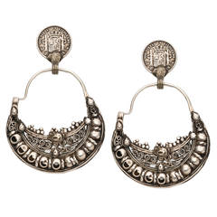 Sterling Silver Moroccan Earrings