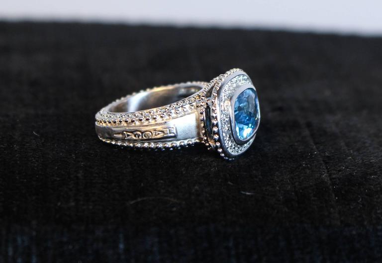Topaz  White Gold Ring  For Sale 2