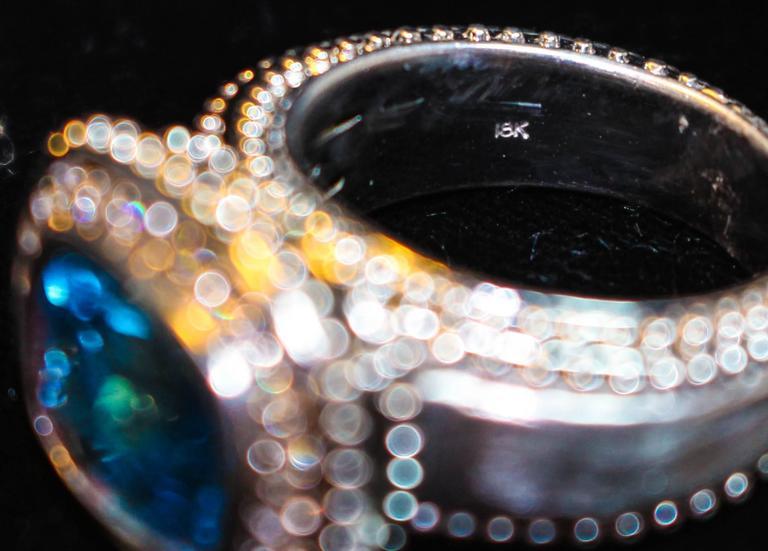 Topaz  White Gold Ring  For Sale 4