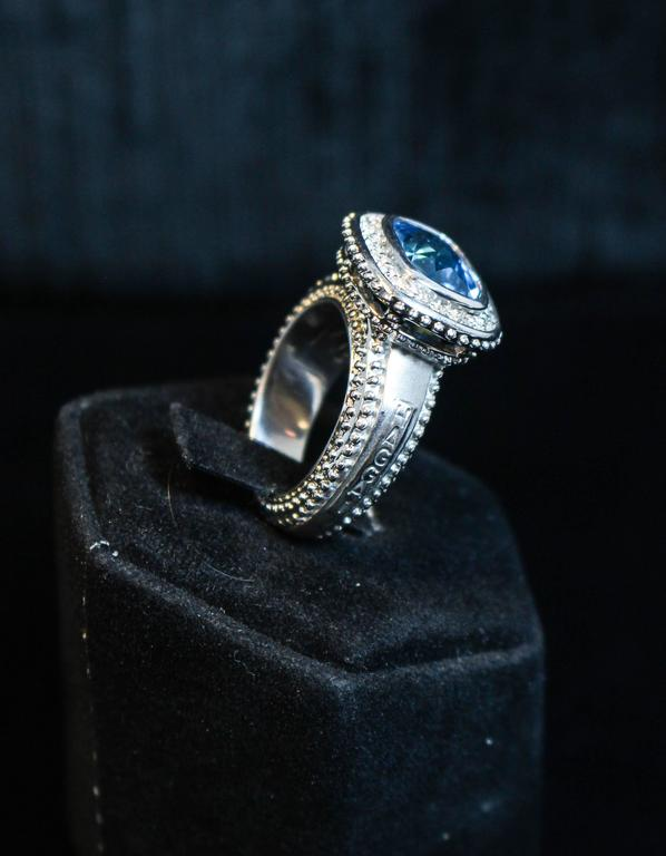 Topaz  White Gold Ring  For Sale 3