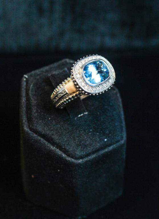 Topaz  White Gold Ring  For Sale 1