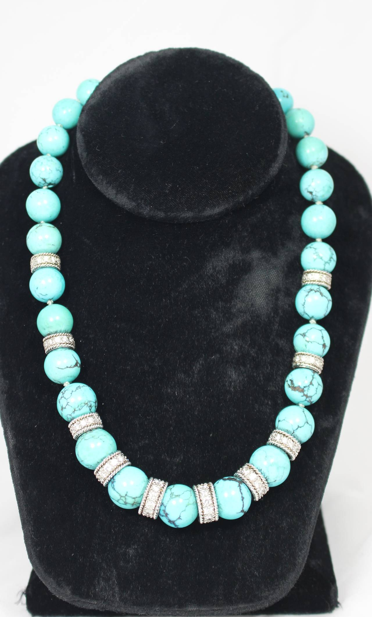 Turquoise Diamond Necklace Set 2