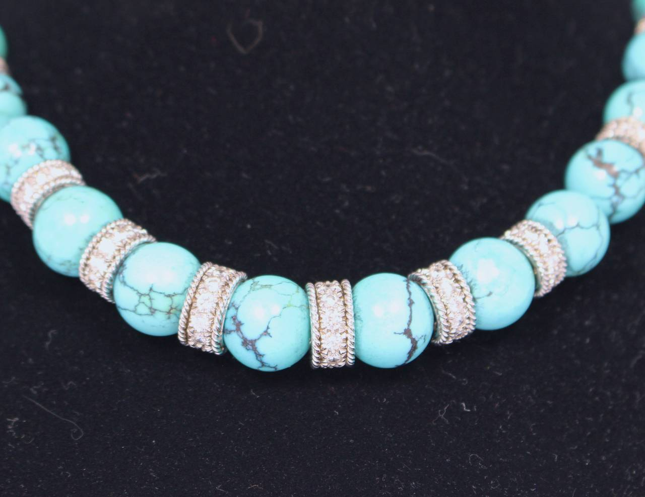 Turquoise Diamond Necklace Set 3