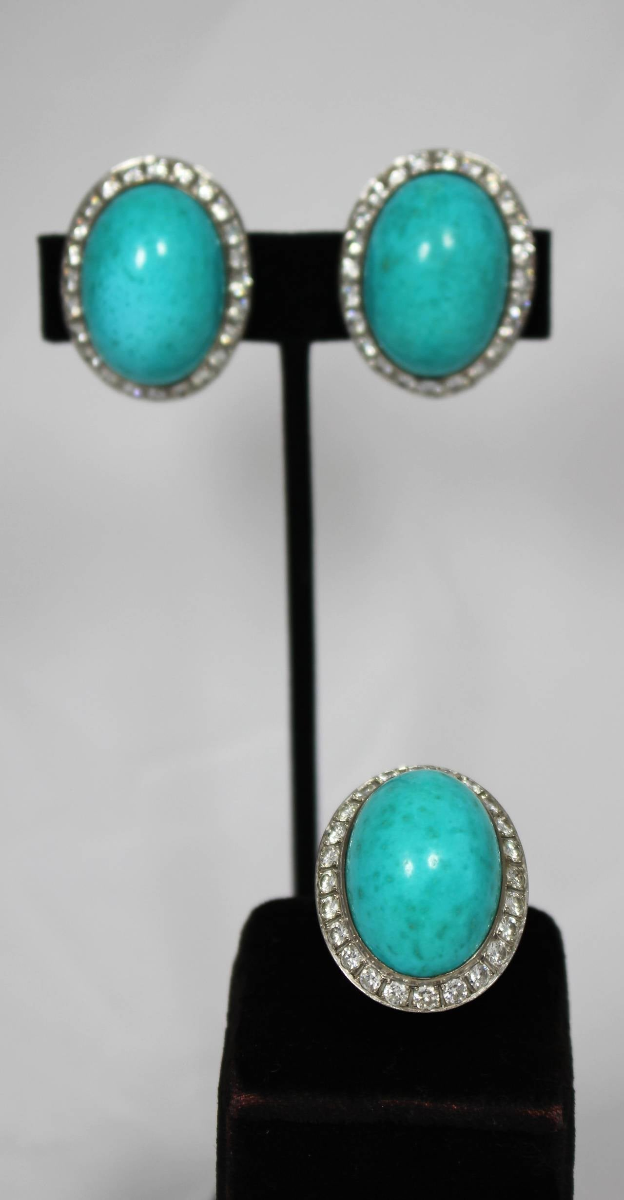 Turquoise Diamond Necklace Set 4
