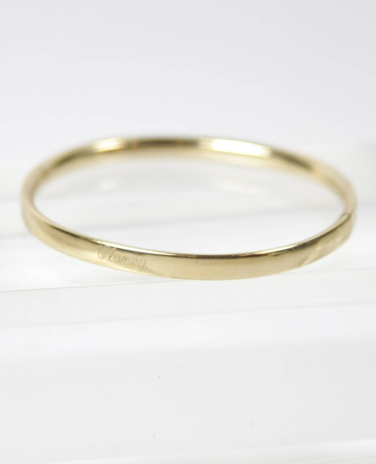 1960s 12kt Gold Filled Baby Bracelet Signed A And Z At 1stdibs