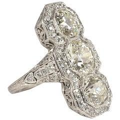 1900s Edwardian European Cut Diamonds Ring