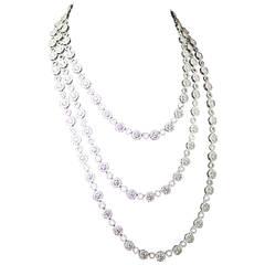 60.18 Carats Diamonds Gold Necklace