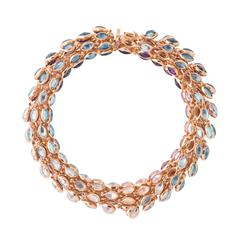 Marie Mas Reversible Swinging Bracelet, High Jewelry Collection, Pink Gold