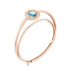 Marie Mas Reversible Bracelet, 18 Karat Rose Gold, Diamonds, Amethyst, Topaz