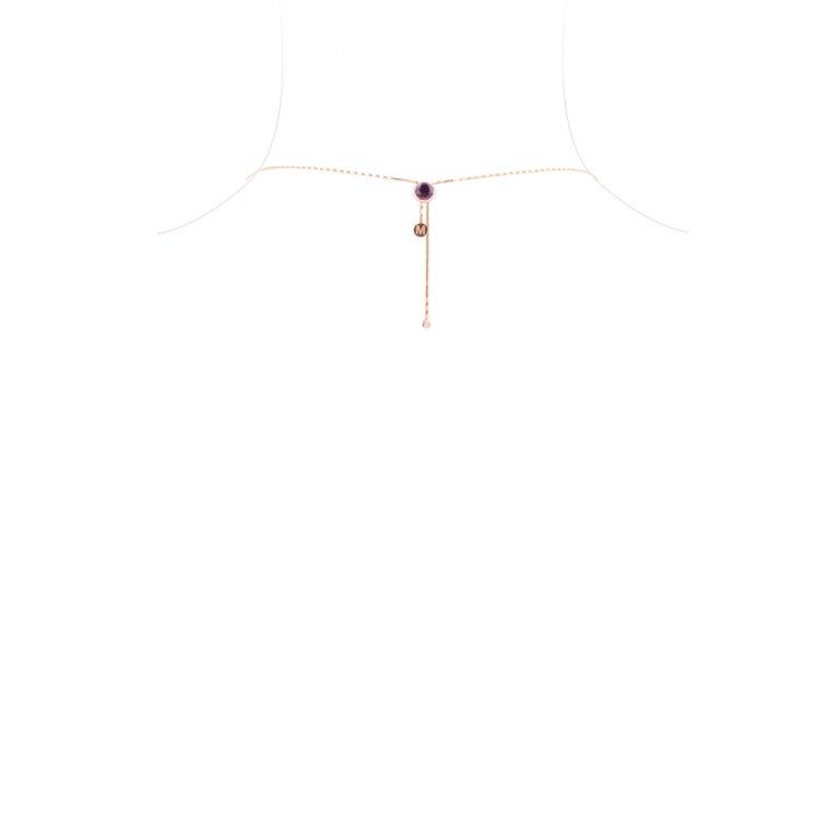 Marie Mas Reversible Large Swiveling Necklace, Pink Gold Diamonds Amethyst Topaz 9