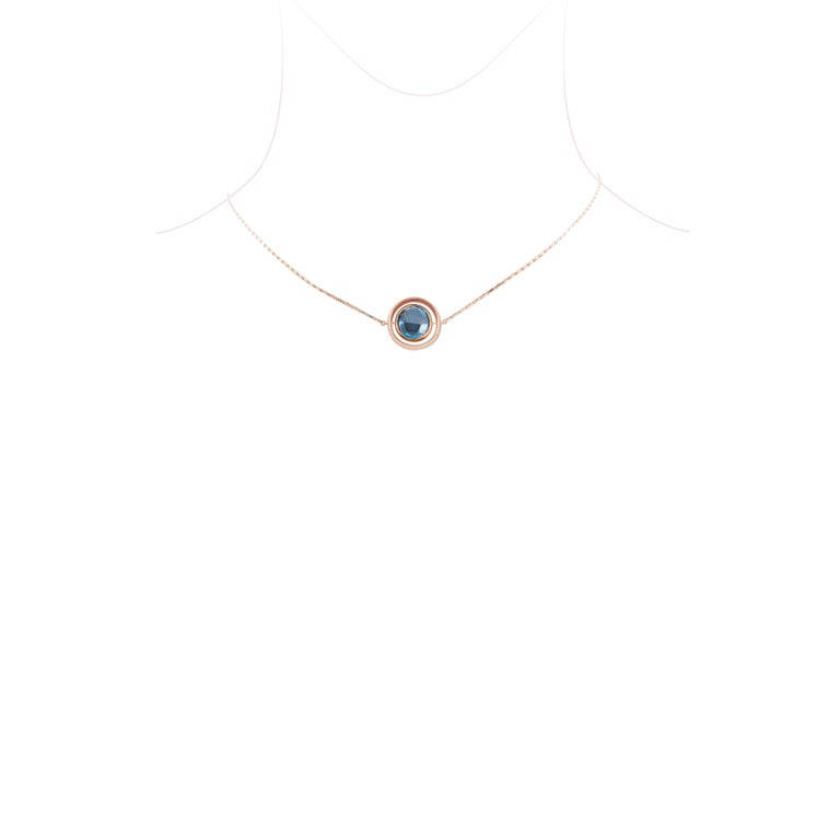 Marie Mas Reversible Large Swiveling Necklace, Pink Gold Diamonds Amethyst Topaz 5