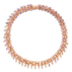 Marie Mas Reversible Swinging Necklace, High Jewelry Collection, Rose Gold