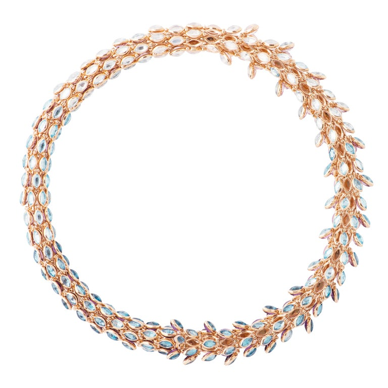 Marie Mas Reversible Swinging Necklace, High Jewelry Collection, Rose Gold 2