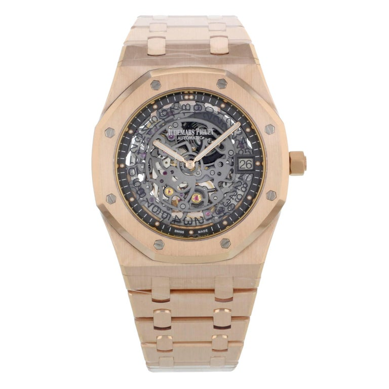 Audemars Piguet Rose Gold Royal Oak Automatic Wristwatch