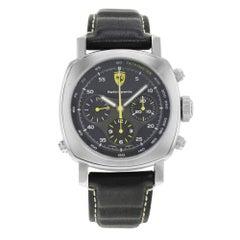 Panerai Stainless Steel Ferrari Scuderia Rattrapante Automatic Wristwatch