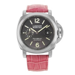 Panerai Stainless Steel Luminor Marina Automatic Wristwatch Ref PAM00104