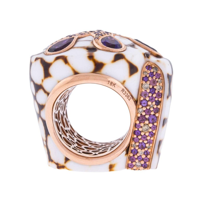John Hardy Cinta Collection Marble Cone Shell Ring