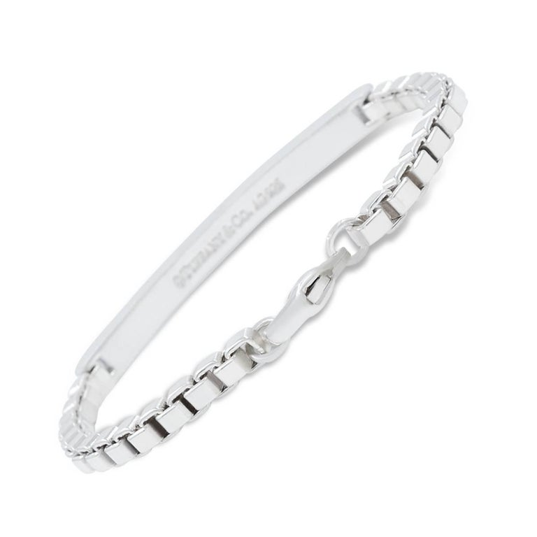 Tiffany Co Silver Venetian Link I D Bracelet For