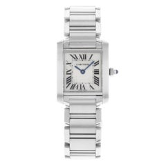 Cartier Tank Francaise W51008Q3 Square Stainless Steel Quartz Ladies Watch