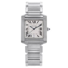 Cartier Tank W51002Q3 Roman Numeral Stainless Steel Automatic Men's Watch