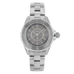 Chanel J12 Chromatic Titanium Ceramic Gray Dial Quartz Ladies Watch H2978
