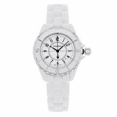 Chanel J12 H0968 White Ceramic and Steel Quartz Ladies Watch