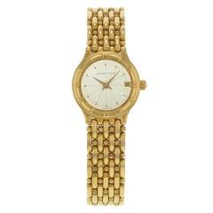 Audemars Piguet Round Silver Dial 18 Karat Yellow Gold Quartz Ladies Watch