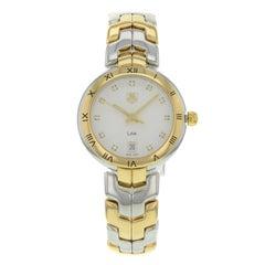 TAG Heuer Link Two Tone Steel 18K Gold Swiss Quartz Ladies Watch WAT1350.BB0957