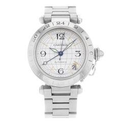 Cartier Pasha GMT W31029M7 Stainless Steel Automatic Unisex Watch