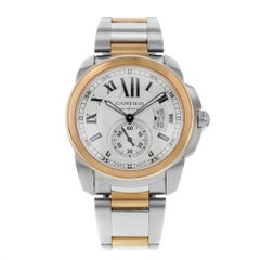 Cartier Calibre de W7100036 18 Karat Rose Gold and Steel Automatic Men's Watch