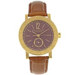 Bvlgari Diagono BB 38 GL AC 18 Karat Yellow Gold Automatic Men's Watch