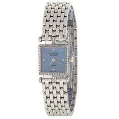 Van Cleef & Arpels 322942 18 Karat White Gold Diamond Swiss Quartz Ladies Watch