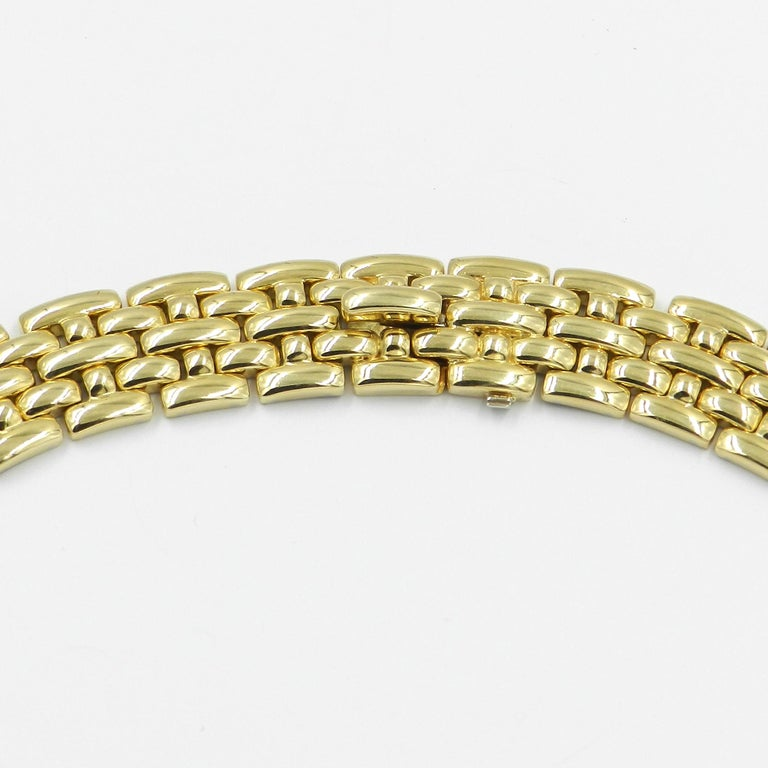 18 Karat Yellow Gold Garavelli Link Necklace For Sale 2