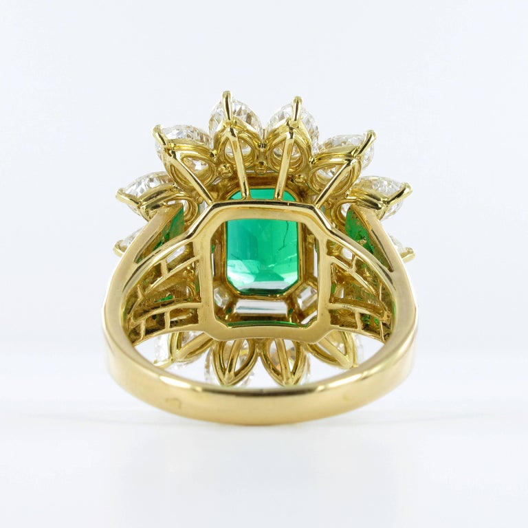 Mauboussin Certified Colombian Emerald Diamond Ring For Sale 2