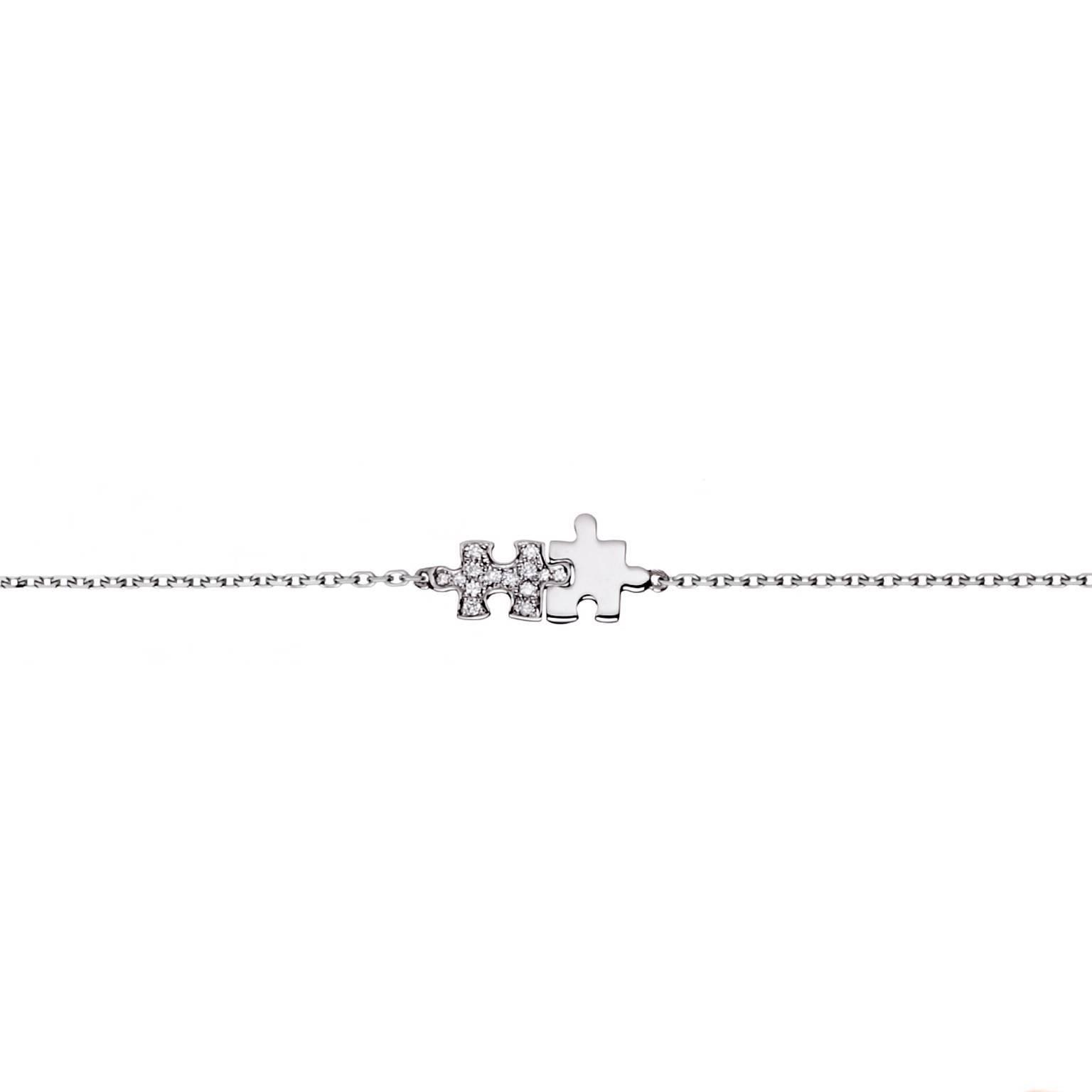 Akillis Mini Puzzle Pink Gold Full Set With Diamonds Duo Bracelet QPb6Hgjxc5