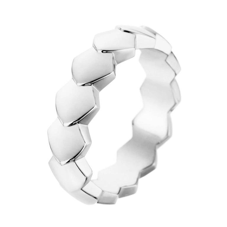 Akillis Python Ring 18 Karat White Gold For Sale