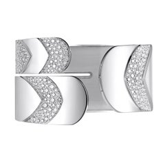 Akillis Python Cuff 18 Karat White Gold Set White Diamonds