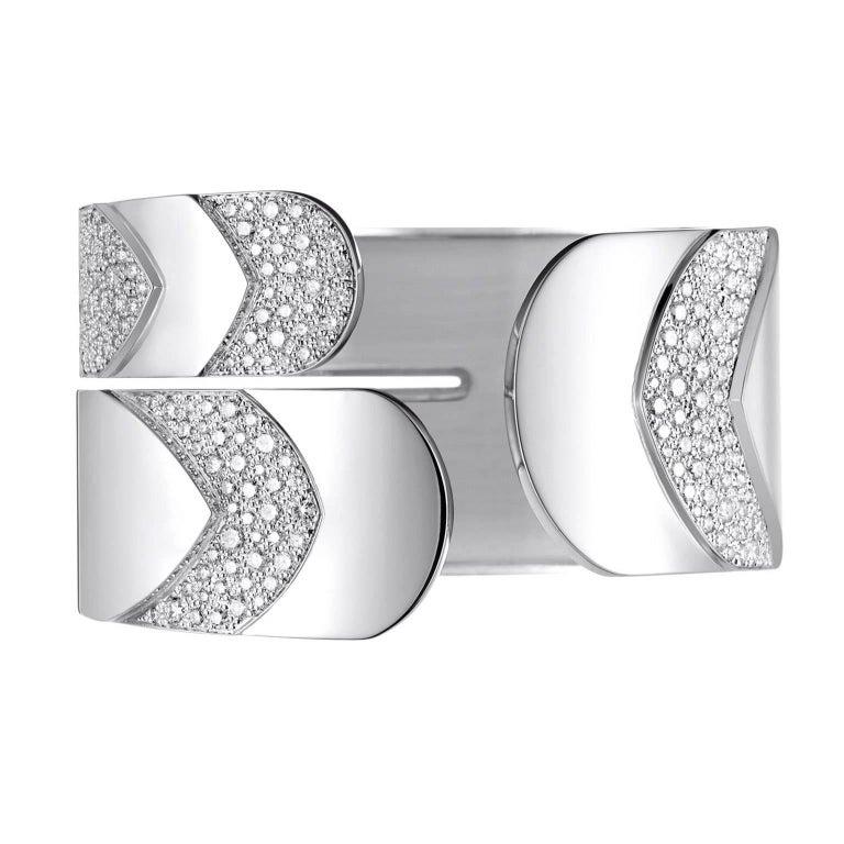 Akillis Python Cuff 18 Karat White Gold Set White Diamonds
