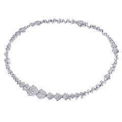 Akillis High Jewelry Python Necklace 18 Karat White Gold White Diamonds
