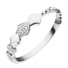 Akillis Python Bracelet 18 Karat White Gold Half-Set White Diamonds