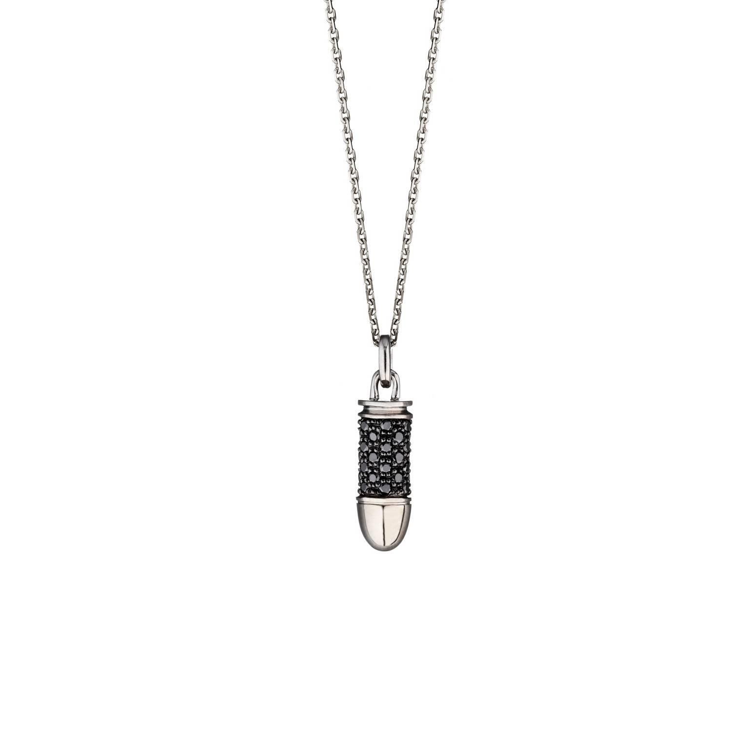 Akillis Mini Bang Bang White Gold With Black Diamonds Pendant Avc7IHowh