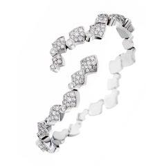 Akillis Python Flexible Bracelet 18 Karat White Gold White Diamonds