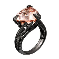 Akillis Cruella Ring Morganite Black Diamonds