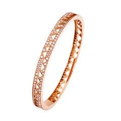 Akillis Capture Me Bracelet 18 Karat Rose Gold Set White Diamonds