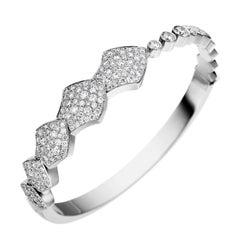 Akillis Python Bracelet 18 Karat White Gold White Diamonds