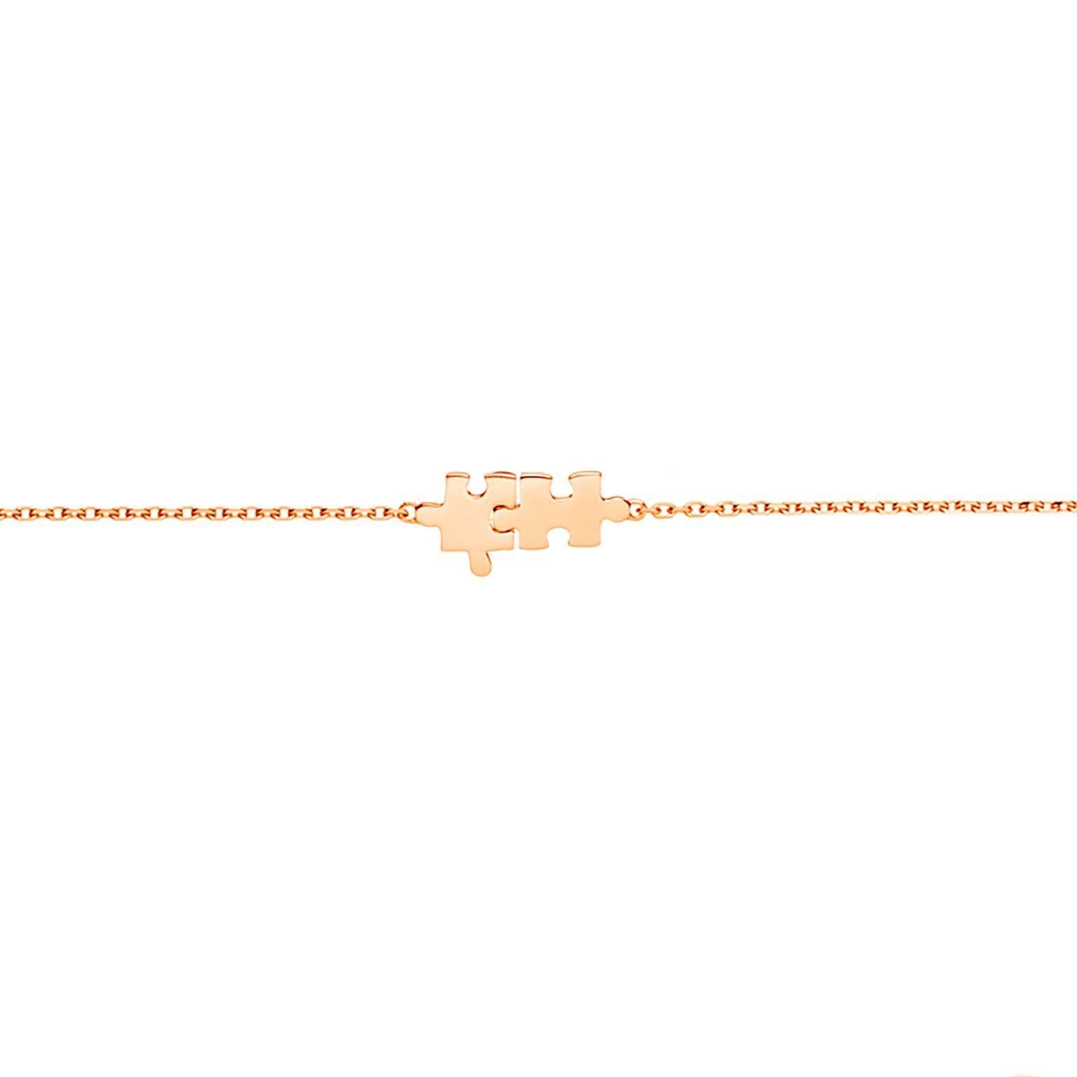 Akillis Mini Puzzle Pink Gold With Diamonds Bracelet n6nnvy5I