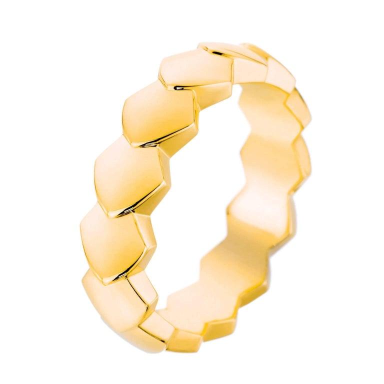 Akillis Python Ring 18 Karat Yellow Gold For Sale