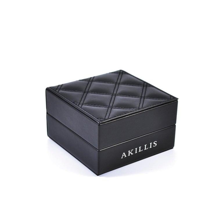 Round Cut Akillis Capture Me Bracelet Titanium Half-Set Black Diamonds For Sale