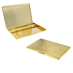 18 Karat Gold 18 Karat Cigarette Holder Case Old Paris