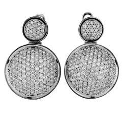 18 Karat White Gold and White Diamond Earrings